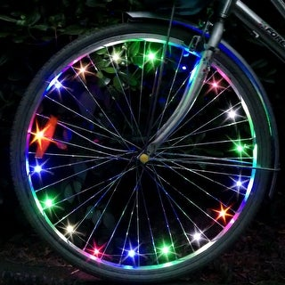 Image LED Bicycle Bike Wheel Lights Flashing Tire Rim Lighting USB Rechargeable Christmas Gift