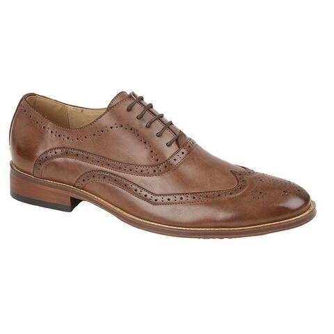 Goor Childrens Boys Brogued Wing Tip Smart Shoe - 12 Junior US