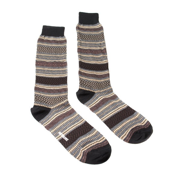 Missoni GM00COU4196 0002 Brown/Tan Knee Length Socks