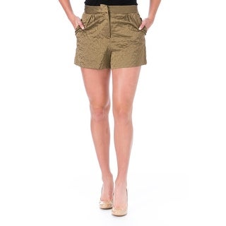 Elizabeth and James Womens Jody Casual Shorts Satin Quilted