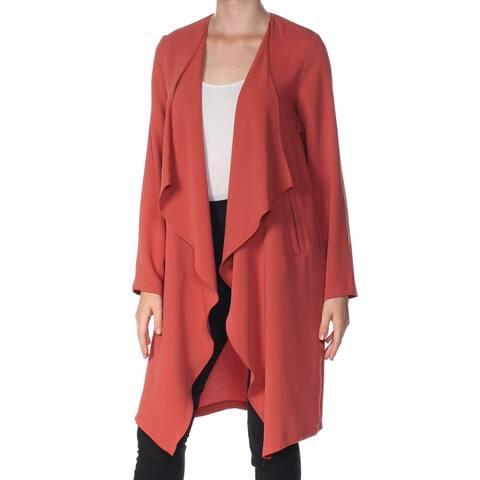NINE WEST Womens Orange Heather Open Cardigan Sweater Size M