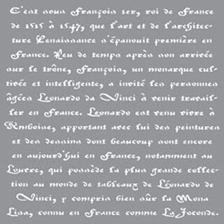 "Old French Script - Americana Decor Stencil 12""X12"""