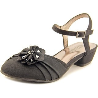Kenneth Cole Reaction Belle Flower Youth Open Toe Synthetic Black Sandals