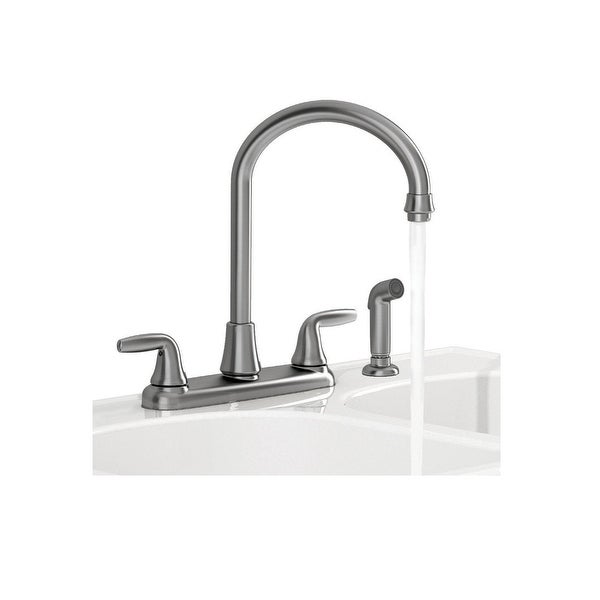 American Standard 9316451 075 Two Handle Kitchen Faucet Side Spray