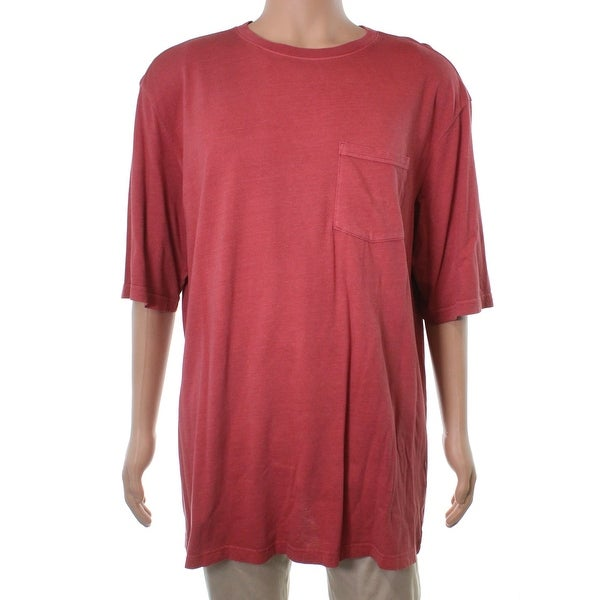 549dd762b2 Shop Club Room NEW Red Melone Mens Size LT Big   Tall Chest Pocket Tee  T-Shirt - Free Shipping On Orders Over  45 - Overstock - 21297141