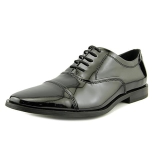 Calvin Klein Nino Men  Cap Toe Patent Leather Black Oxford
