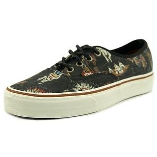 Vans Authentic Women Round Toe Canvas Black Skate Shoe