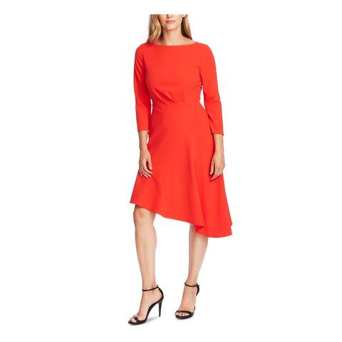 VINCE CAMUTO Orange 3/4 Sleeve Knee Length Dress 0