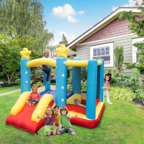 Inflatable Jumping Castle Star Shape with Slide (Include Air Blower)