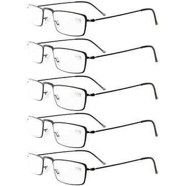 99c963f5a4db Shop Eyekepper 5-Pack Stainless Steel Frame Half-eye Style Reading Glasses  Black +1.5 - Free Shipping On Orders Over  45 - Overstock - 15920040