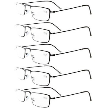 295e7bfc28f Shop Eyekepper 5-Pack Stainless Steel Frame Half-eye Style Reading Glasses  Black +3.0 - Free Shipping On Orders Over  45 - Overstock.com - 15943031