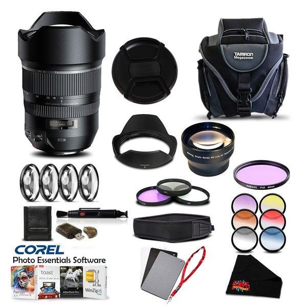 Tamron SP 15-30mm f/2.8 Di VC USD Lens for Canon Pro Accessory Kit - black
