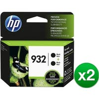 HP 932 Black Original 2 Ink Cartridges (L0S27AN)(2-Pack)