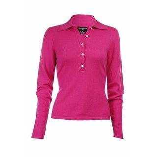 Sutton Studio Womens 100% Cashmere Polo Sweater Plus