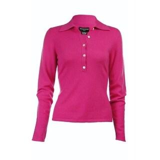 Sutton Studio Womens 100% Cashmere Polo Sweater Plus
