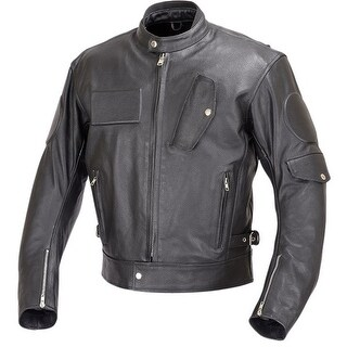 Men Motorcycle Biker Race Leather Jacket 5pc CE Rated Armor Black MBJ025