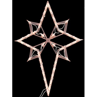 "22"" Lighted Star of Bethlehem Christmas Window Silhouette Decoration"