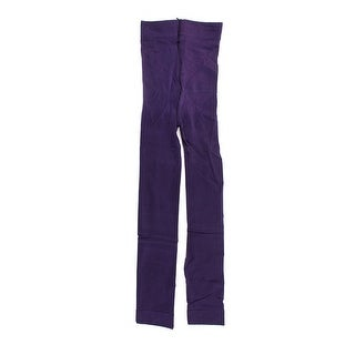 Girls Purple Elastic Waist Tight Close-fitting Pantyhose Leggings XS