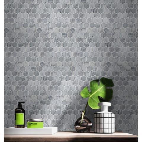 "Carrara Marble Mosaic Decorative Backsplash Tile , 12""x 12""x 0.38""/pc"