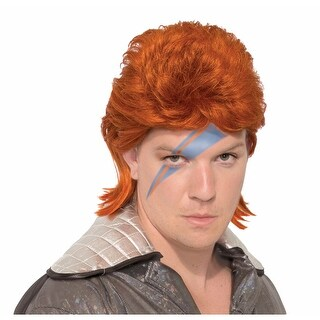 Adult Ziggy Stardust Bowie Costume Wig