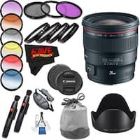 Canon EF 24mm f/1.4L II USM Lens International Version (No Warranty) Professional Accessory Combo