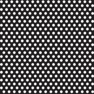 "Midnight Black - Decorative Dots Gift Wrap 30""X5'"