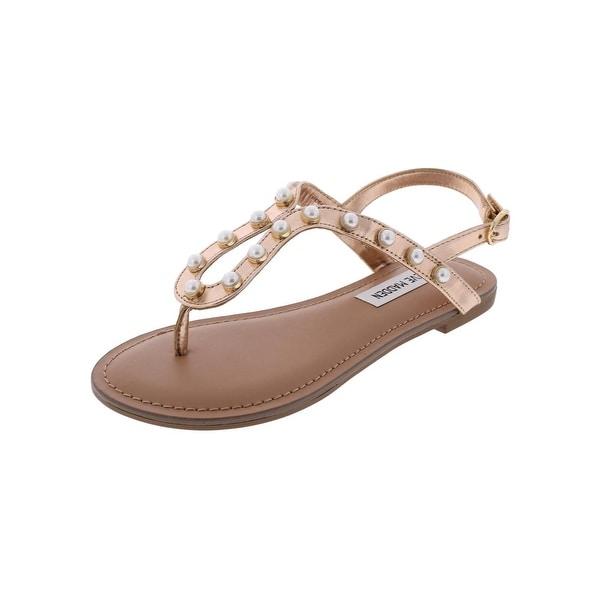 Steve Madden Womens Hideaway-P Thong Sandals Open Toe Flat