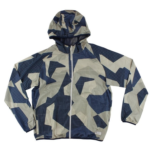 5d4159f582d77 Shop Adidas Mens M90 Windbreaker Navy Blue - navy blue light tan - M - Free  Shipping Today - Overstock - 22545331