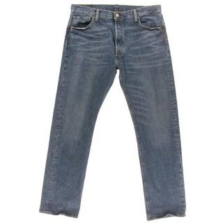 Levi Strauss & Co. Mens 501 Bootcut Jeans Denim Whisker Wash - 40/34