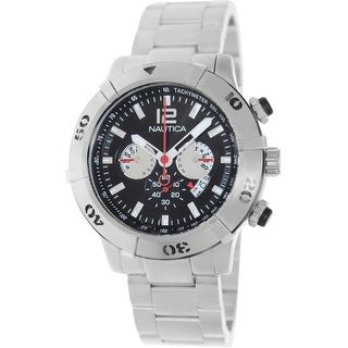 Nautica Men's Ncs 46 A36508G Silver Stainless-Steel Quartz Dress Watch