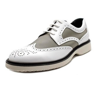 Hogan H217 Route Derby Bucature Spezzato Leather Fashion Sneakers
