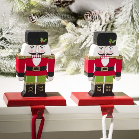 Glitzhome Christmas Stocking Holder