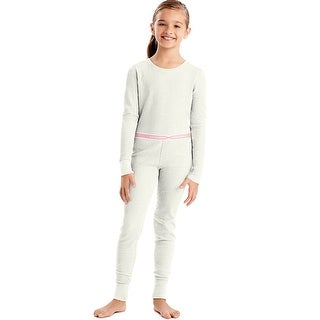 Hanes X-Temp®; Girls' Organic Cotton Thermal Set - Size - XS - Color - Snow White
