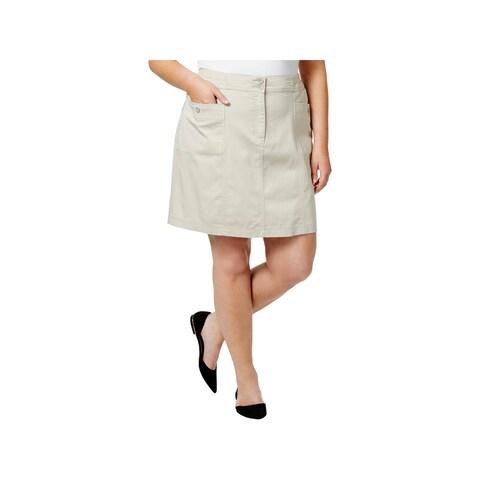Karen Scott Womens Plus Skort Knee Length Casual