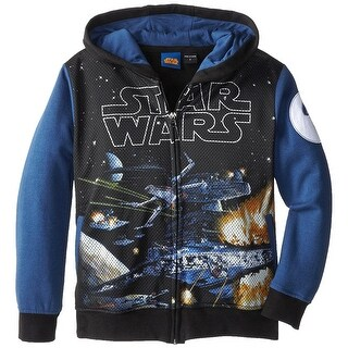 Star Wars Little Boys' Toddler Deep Stars Zip Up Hoodie