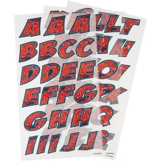 Dc Comics Iron-On Alphabet Transfer Sheets-Spider-Man