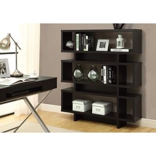Monarch 2531 Cappuccino Modern Style 55nch Bookcase