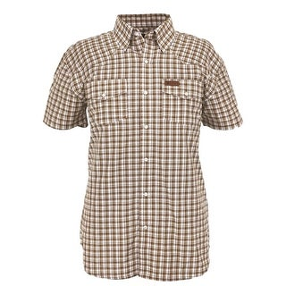 Outback Trading Shirt Mens S/S Ford Performance Plaid Driftwood 42640