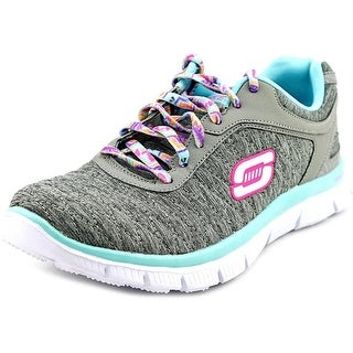 Skechers Sketch Appeal - Eye Catcher Youth Round Toe Canvas Gray Running Shoe