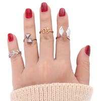 Mad Style Wing Fingertip Ring Set - Multi Color