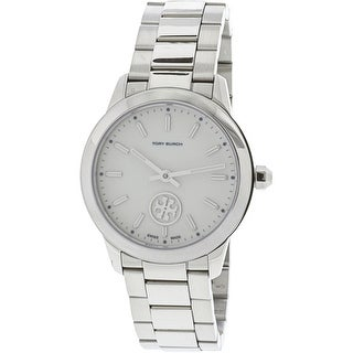 Tory Burch Women's Collins TB1301 Silver Stainless-Steel Quartz Fashion Watch