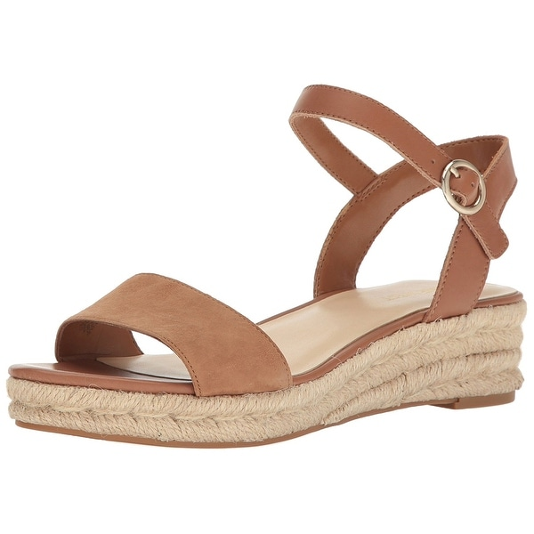 Nine West Womens Allium Leather Open Toe Casual Espadrille Sandals
