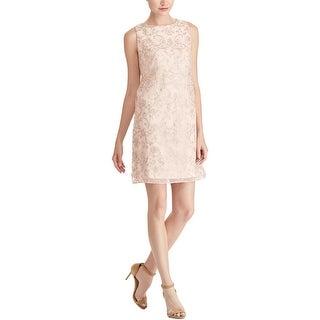 American Living Womens Cocktail Dress Metallic Knee-Length