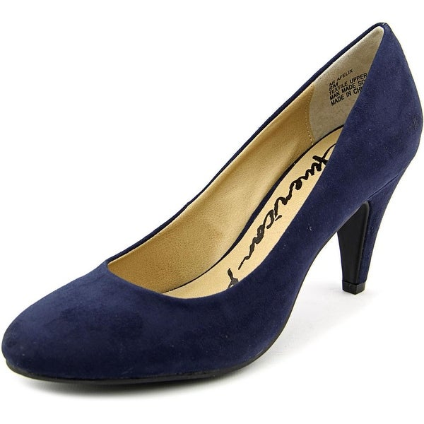 American Rag Felix Women Round Toe Canvas Blue Heels