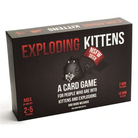 Exploding Kittens Card Game - Family-Friendly Party Games - Card Games For Adults, Teens & Kids - Black