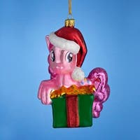 "4.75"" My Little Pony Glass Pinkie Pie Decorative Christmas Ornament"