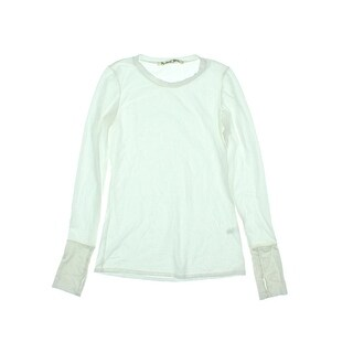 Michael Stars Womens Thumbhole Crew Neck Casual Shirt - o/s