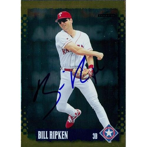 Signed Ripken Billy Texas Rangers 1995 Score Baseball Card Autographed
