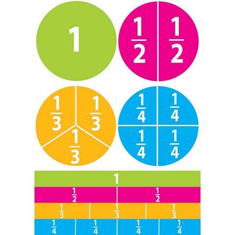 (6 Pk) Math Die Cut Magnets Beginning Fractions