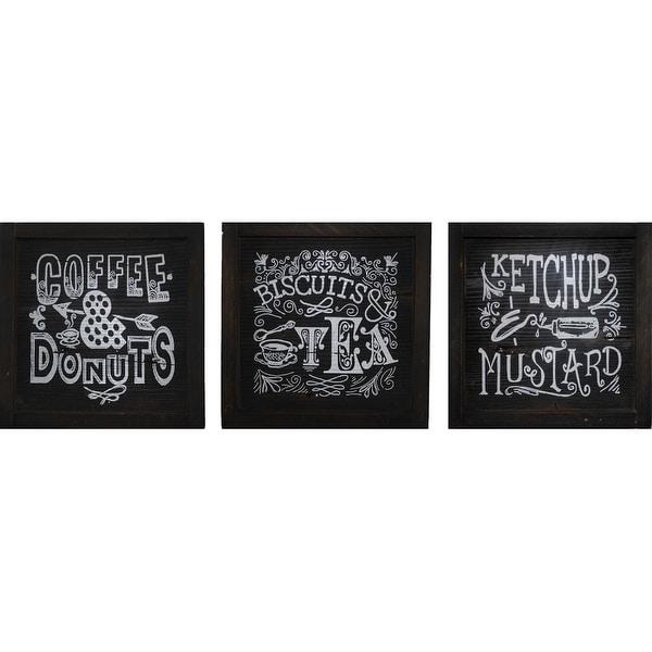 PTM Images 6-3336 Chalkboard-Look Kitchen Signs (Set of 3) - Black
